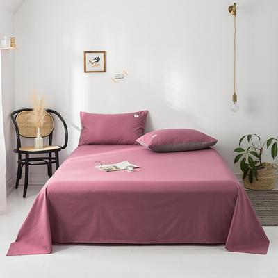 2020年春夏新品-全棉加厚水洗棉单品床单 120cmx230cm 海棠红