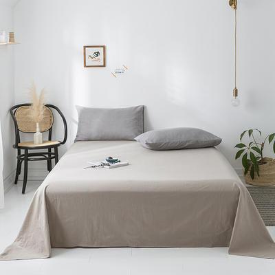2020年春夏新品-全棉加厚水洗棉单品床单 120cmx230cm 卡其