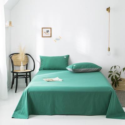 2020年春夏新品-全棉加厚水洗棉单品床单 120cmx230cm 墨绿