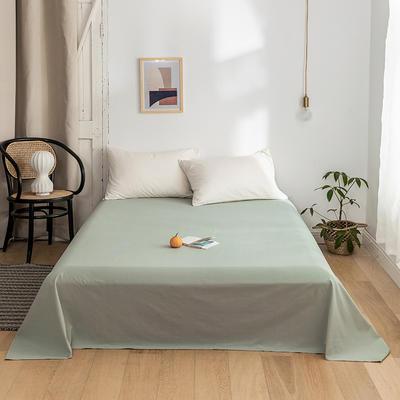 2020年春夏新品-全棉加厚水洗棉单品床单 120cmx230cm 水绿