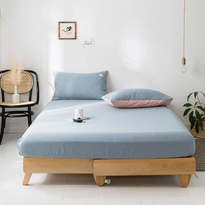 2020年春夏新品-全棉加厚水洗棉单品床笠 150cmx200cm 湖蓝