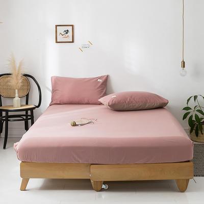 2020年春夏新品-全棉加厚水洗棉单品床笠 150cmx200cm 珊瑚红