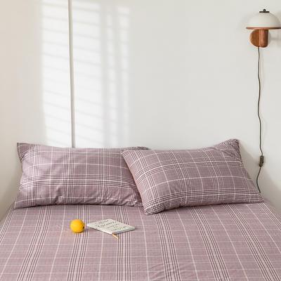 2020新款-色织水洗棉枕套 48*74cm/对 克里斯紫