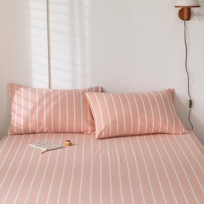 2020新款-色织水洗棉枕套 48*74cm/只 浅玉白条