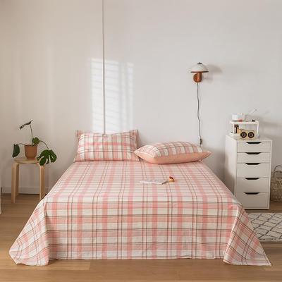 2020新款-水洗棉床单 160*230cm 艾利斯粉