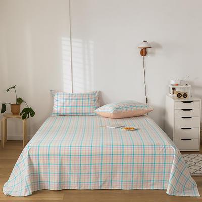 2020新款-水洗棉床单 160*230cm 冰激凌蓝