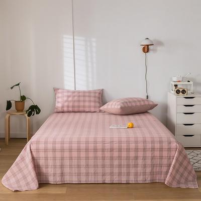 2020新款-水洗棉床单 160*230cm 帝夫尼粉