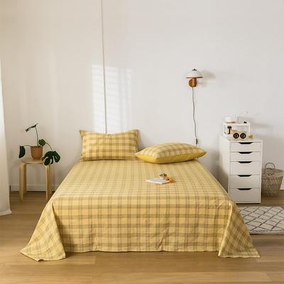 2020新款-水洗棉床单 160*230cm 帝夫尼黄