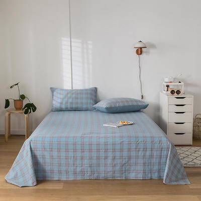 2020新款-水洗棉床单 160*230cm 帝夫尼蓝