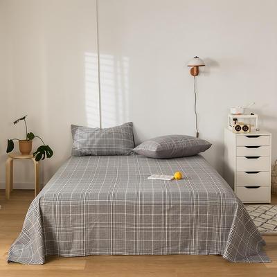 2020新款-水洗棉床单 160*230cm 科莱尔黑