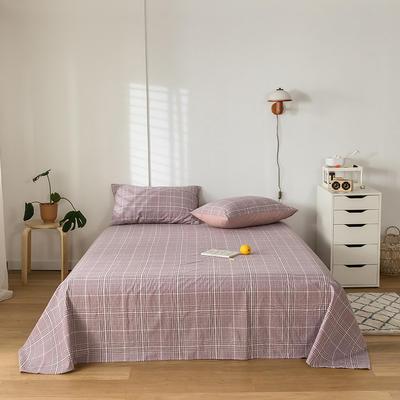 2020新款-水洗棉床单 160*230cm 克里斯紫