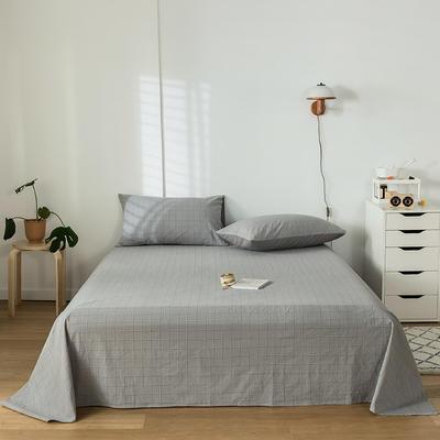 2020新款-水洗棉床单 160*230cm 马卡龙灰