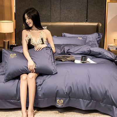 2020新款-60支长绒棉.皇家路易斯系列四件套 1.8m床单款四件套 皇家-罗兰紫
