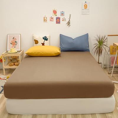 2021新款-全棉水洗棉混搭款单床笠实拍图 150cmx200cm 太妃糖