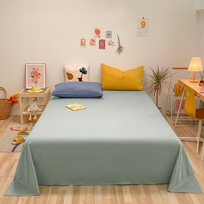 2021新款-全棉水洗棉混搭款单床单实拍图 160cmx230cm 繁星蓝