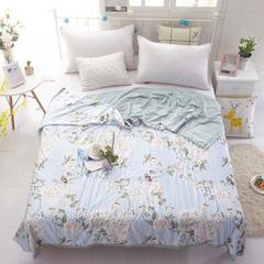 花雨伞雅棉蚕丝被 150x200cm 和如琴瑟-蓝