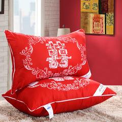 羽丝绒枕芯  大红羽绒枕(48*74cm) 大红羽丝绒枕