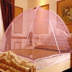 钢丝魔术免安装蒙古包蚊帐 150x200cm 粉红