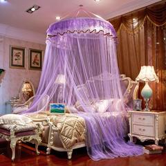 雪姿家纺吊挂圆顶蚊帐系列(仲夏之梦) 1.5*2.0m 紫色