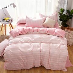 2018新款芦荟棉四件套 1.2m(4英尺)床 粉色梦想