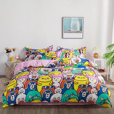 2020新款-芦荟棉印花四件套 床单款三件套1.2m(4英尺)床 春游