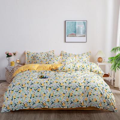 2020新款-芦荟棉印花四件套 床单款三件套1.2m(4英尺)床 炫雅风