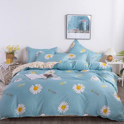 2020新款-芦荟棉印花四件套 床单款三件套1.2m(4英尺)床 绚丽华彩