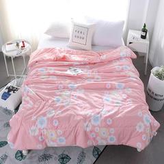 水洗棉夏被空调被夏被双人棉被夏凉被单人被学生被 全棉夏被 150x200cm 花海