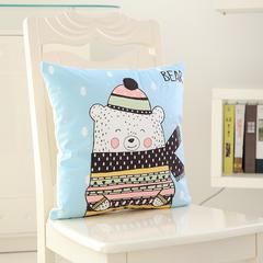 韩国绒抱枕 30x50cm(套+芯) 围巾熊