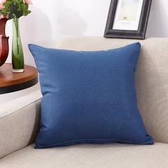 亚麻纯色抱枕 45X45cm(单套) 宝石蓝