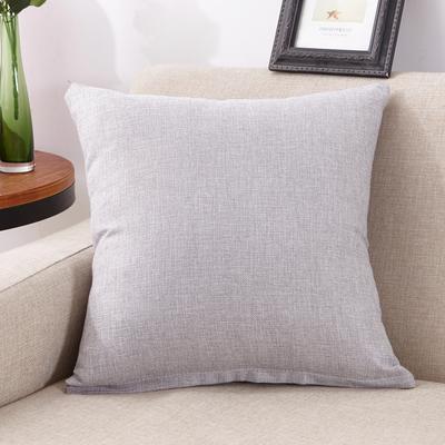 2018新款亚麻抱枕-素色系列 40X40cm抱枕套 银米灰