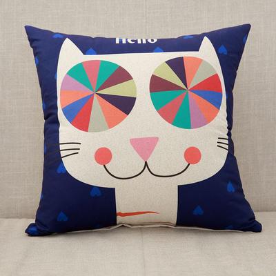 2018新款磨毛抱枕-卡通系列 40*40cm单套 hello猫