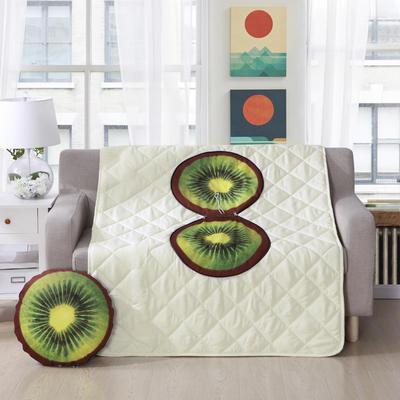 2018新款抱枕被水果系列 直径38cm左右(1.1*1.5m) 猕猴桃