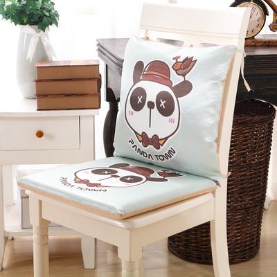 2018新款夏季爆款冰丝连体坐垫 40X40cm(硬质棉) XX熊猫