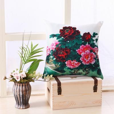 美式花鸟冰麻抱枕 45x45cm(套+芯) 1