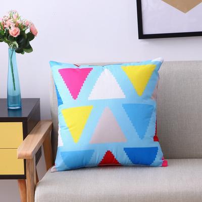 双面几何亚麻抱枕 45x45cm(单套) 1