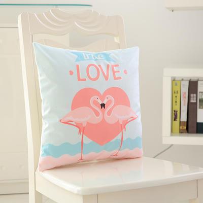 韩国绒抱枕 50*50cm含芯 爱情树