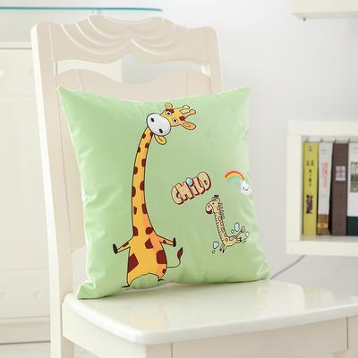 韩国绒抱枕 40*40cm单套 长颈鹿伙伴