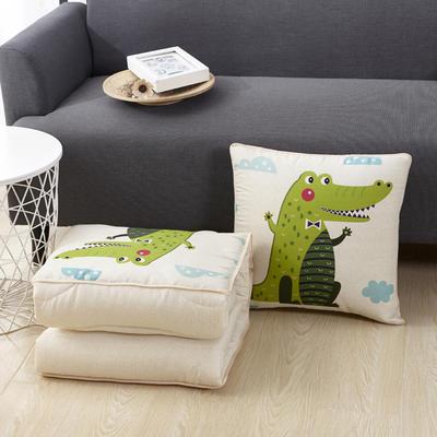 新款磨毛抱枕被 小号绗缝款40*40cm展开1*1.5m 1