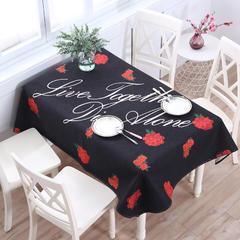 2018第一款桌布 110*110cm 玫瑰花语
