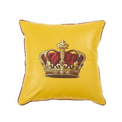 2019新款大牌小蜜蜂系列软装抱枕 抱枕套45*45cm/个 (不含内胆) 皇冠-黄色