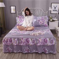 2018新款(125克仿全棉)床裙单件HXSD-801(质量过硬 四季不断货跑量) 120cmx200cm 爱的花海