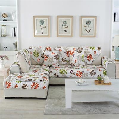 2018新款双面沙发垫九件套三件套沙发套全包沙发巾盖 三件套(3条装) 双面小苹果