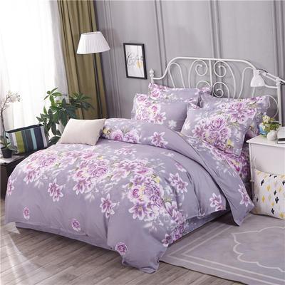 2018新款(125克仿全棉)床单四件套HXSD-805(价格低 质量硬) 0.9m(三件套) 爱的花海