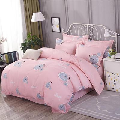 2018新款(125克仿全棉)床单四件套HXSD-805(价格低 质量硬) 1.2m(三件套) 阳光甜橙