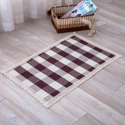 2018新款HX-822 棉线编织地毯 客厅茶几床边毯 45*45椅子垫 光明磊落
