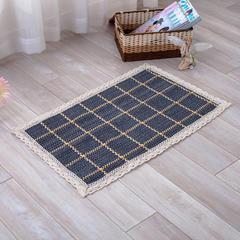 2018新款HX-822 棉线编织地毯 客厅茶几床边毯 90*160二人位 柳暗花明