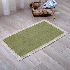 2018新款HX-822 棉线编织地毯 客厅茶几床边毯 110*210 青山绿水