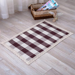 2018新款HX-822 棉线编织地毯 客厅茶几床边毯 110*240 光明磊落