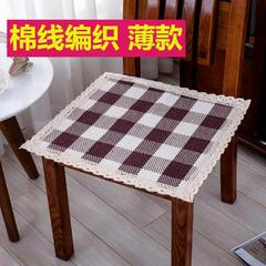 2018新款HX-8803 椅子垫棉线编织坐垫 43X43cm 光明磊落